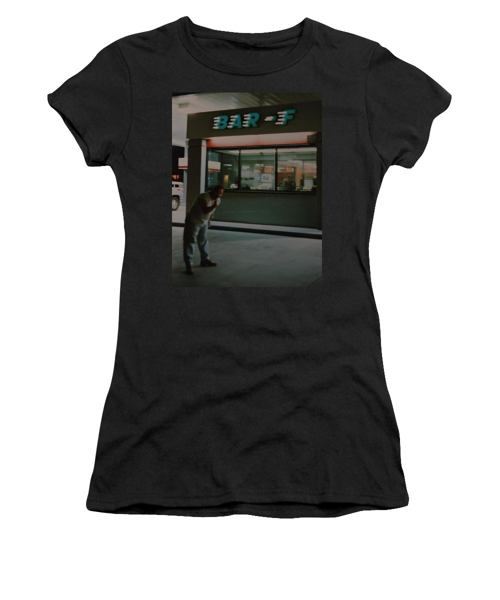 Funny Women's T-Shirt featuring the photograph Bar F by Rob Hans