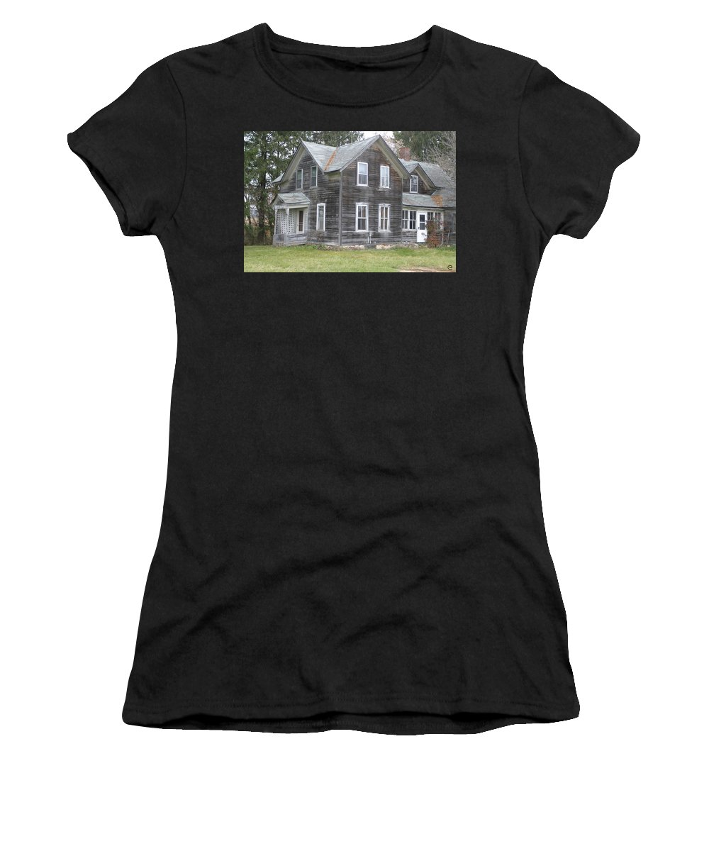 Barns Women's T-Shirt (Athletic Fit) featuring the photograph Barn Wood by Bjorn Sjogren