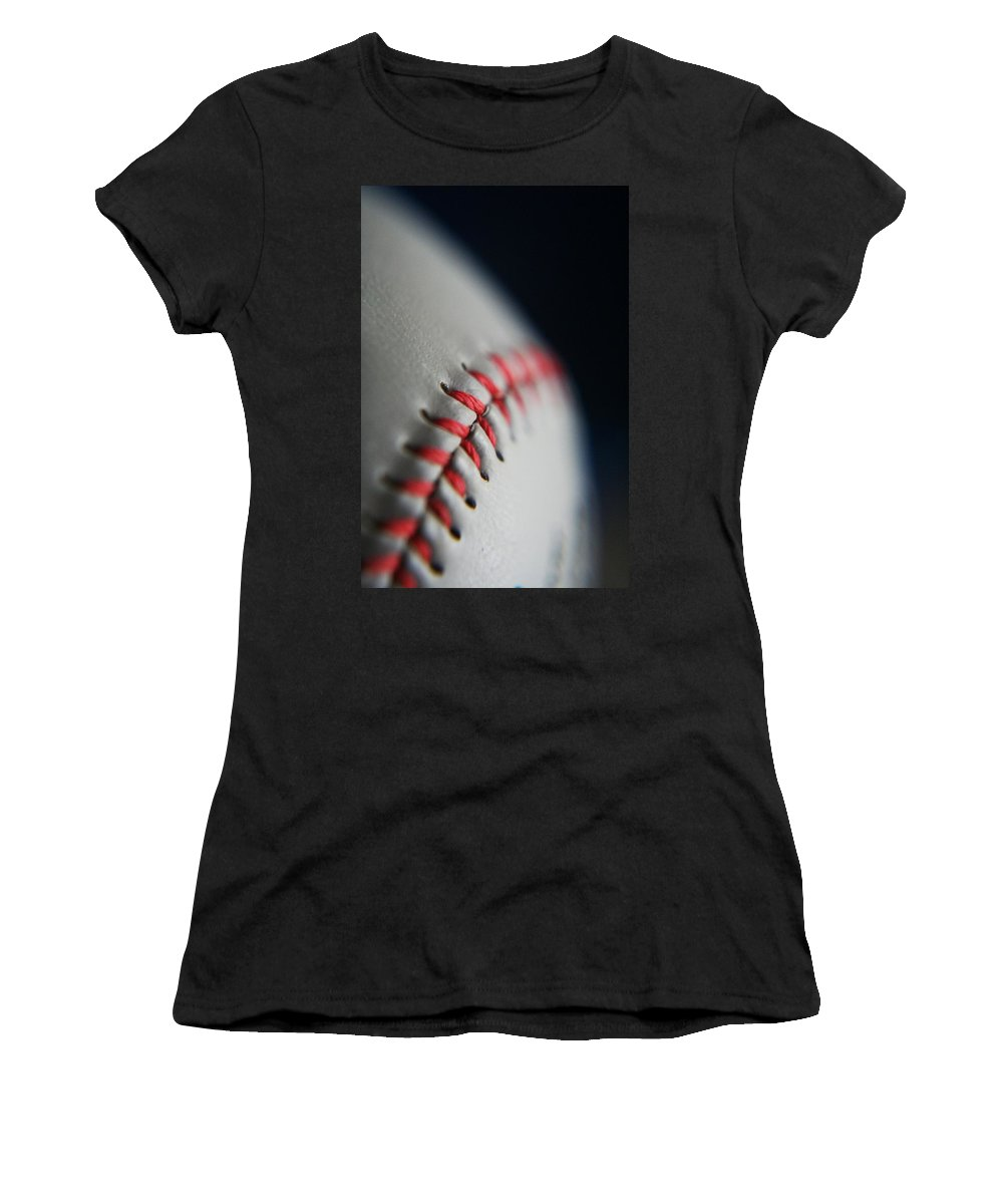 Photograph Women's T-Shirt (Athletic Fit) featuring the photograph Baseball Fan by Rachelle Johnston
