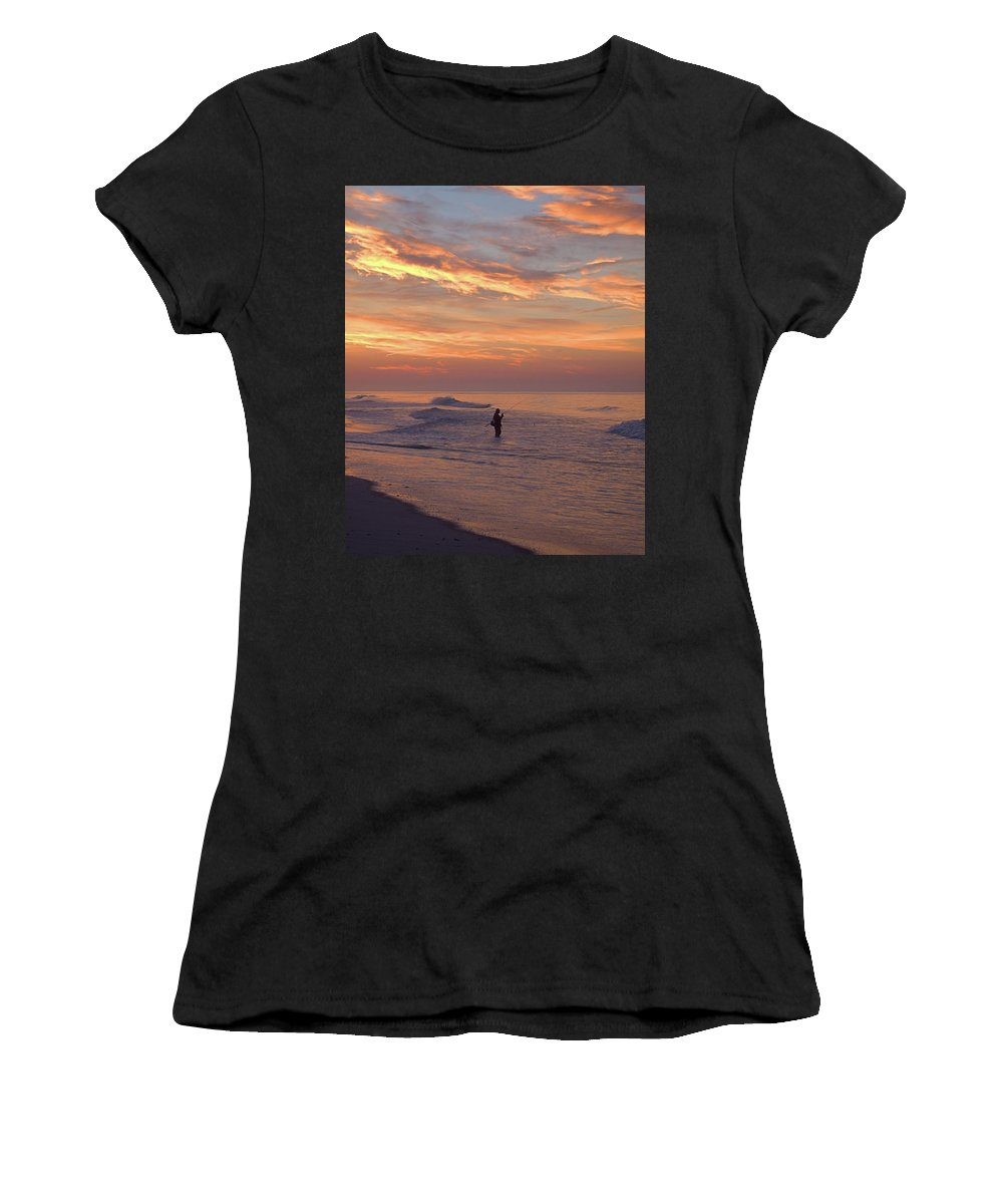 Seas Women's T-Shirt (Athletic Fit) featuring the photograph Bassing I I I by Newwwman
