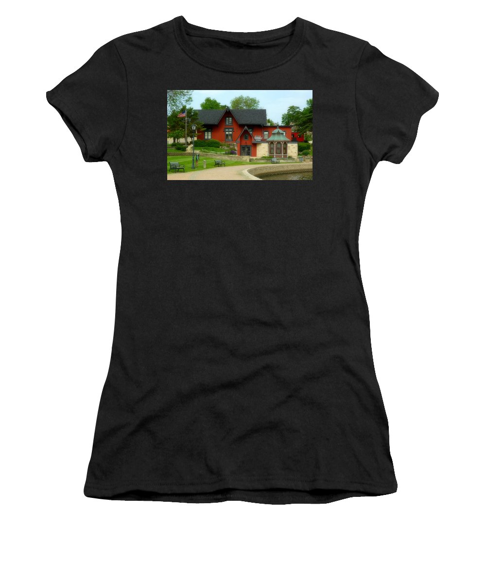 Batavia Depot Women's T-Shirt featuring the photograph Batavia Depot by Ely Arsha