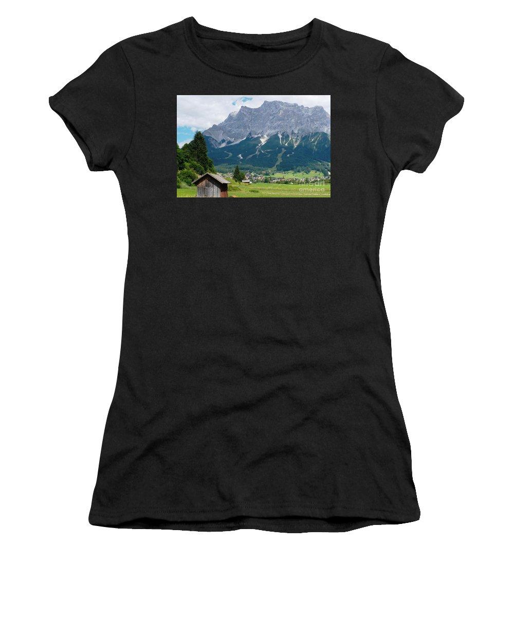 Landscape Women's T-Shirt (Athletic Fit) featuring the photograph Bavarian Alps Landscape by Carol Groenen