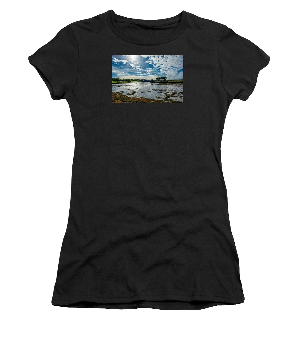 Ireland Women's T-Shirt (Athletic Fit) featuring the photograph Bay At Low Tide In Clonakilty In Ireland by Andreas Berthold