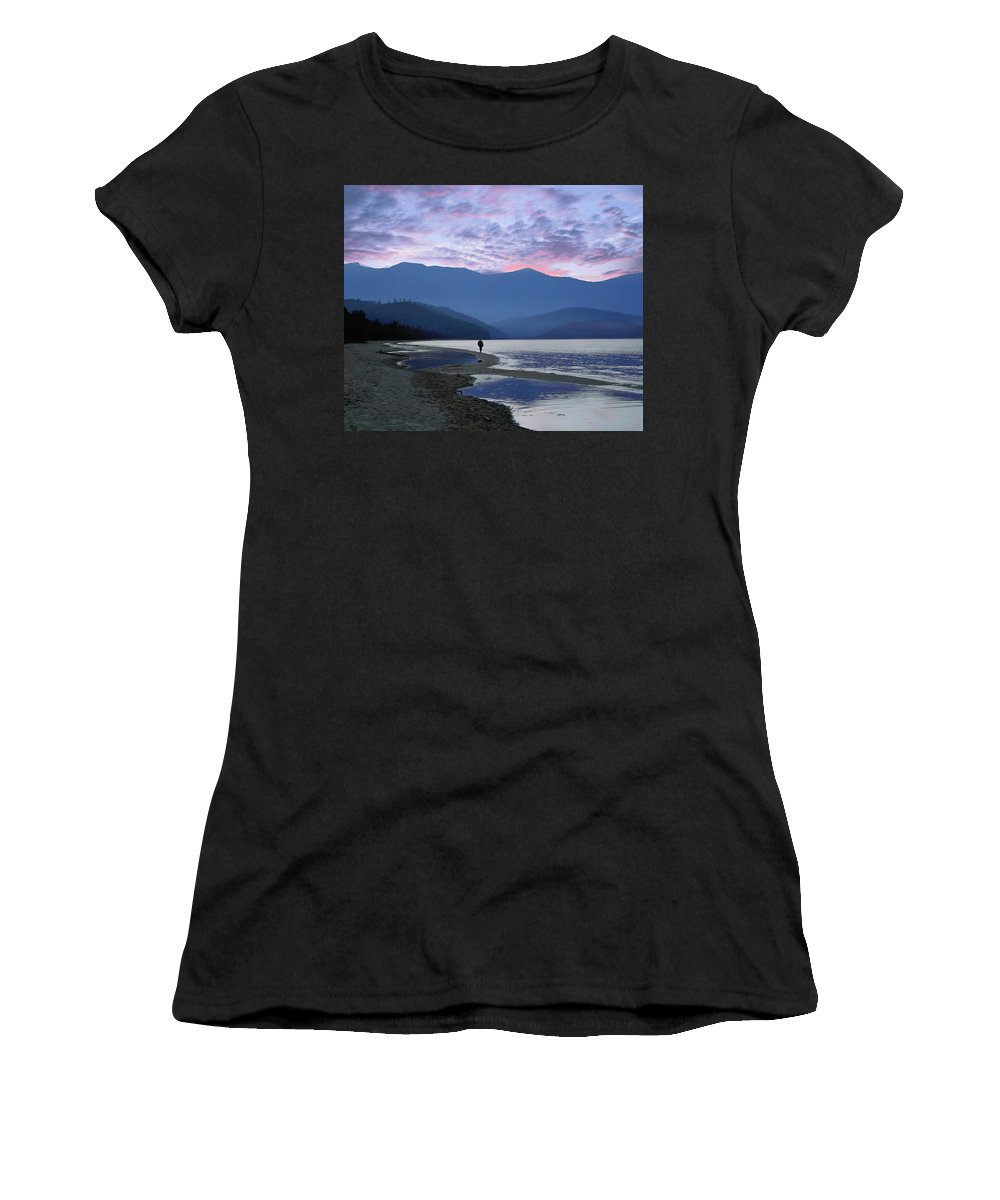 Landscape Women's T-Shirt (Athletic Fit) featuring the photograph Baykal Lake by Vladimir Kholostykh