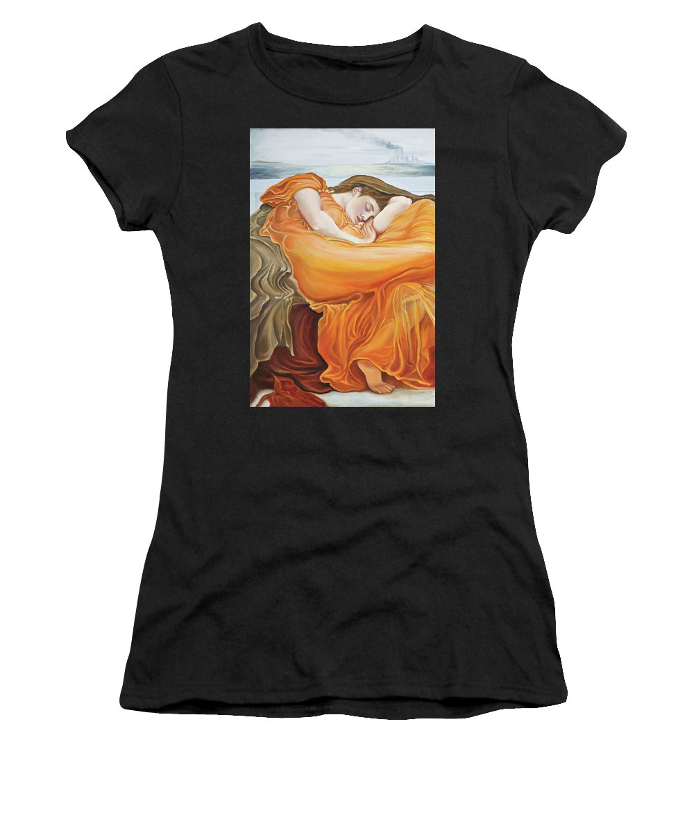 Christian Art Women's T-Shirt featuring the painting Be Still by Elise Aleman