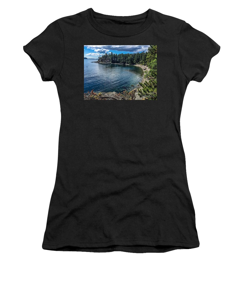 Orcas Island Women's T-Shirt featuring the photograph Beach Days by William Wyckoff