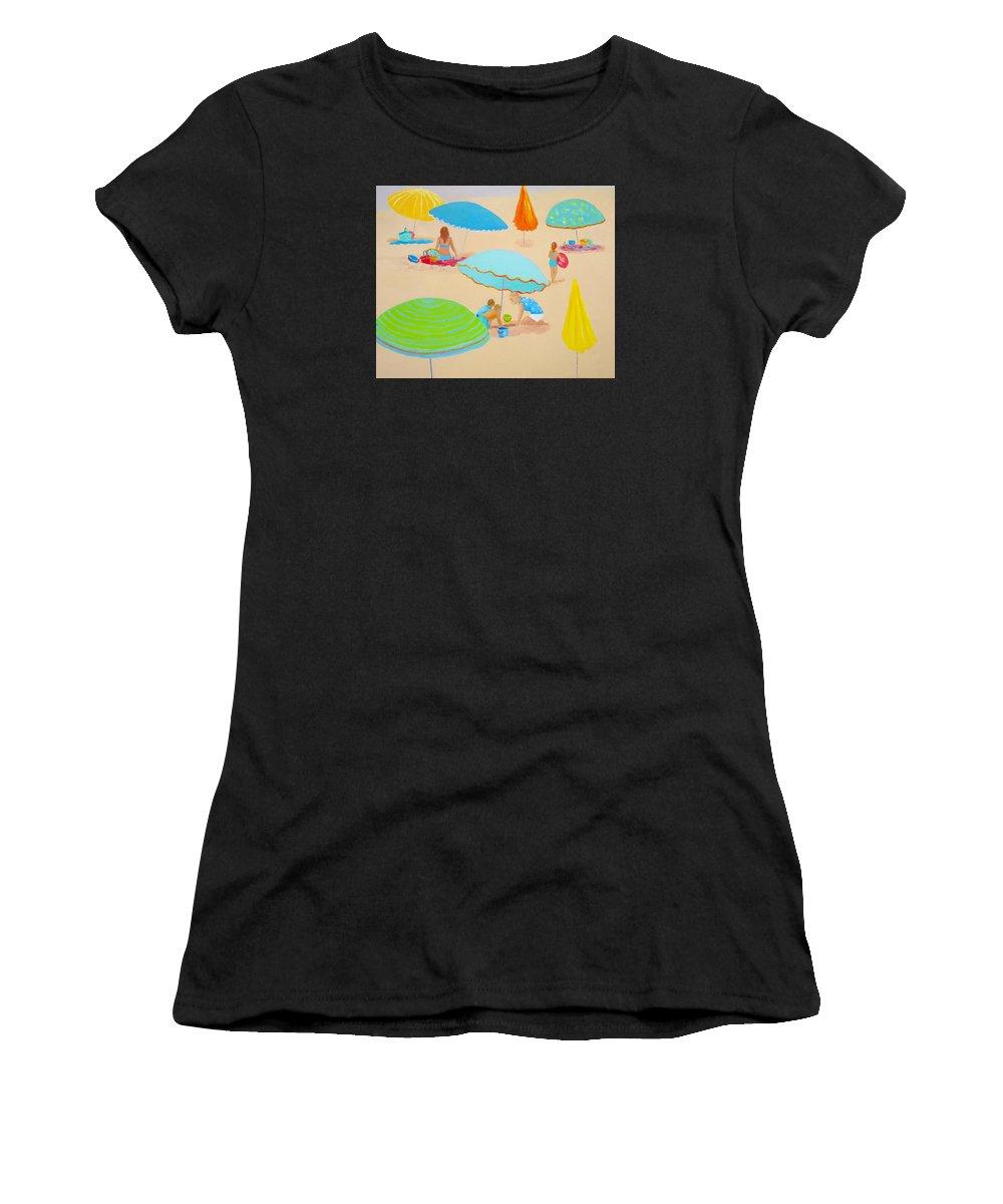 Beach Women's T-Shirt featuring the painting Beach Living by Jan Matson