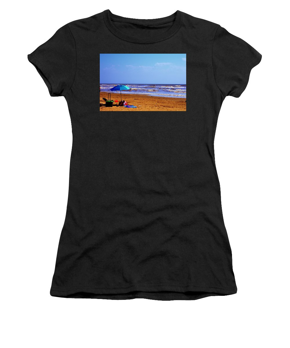 Beach Women's T-Shirt (Athletic Fit) featuring the photograph Beach Picnic by Robert Cox