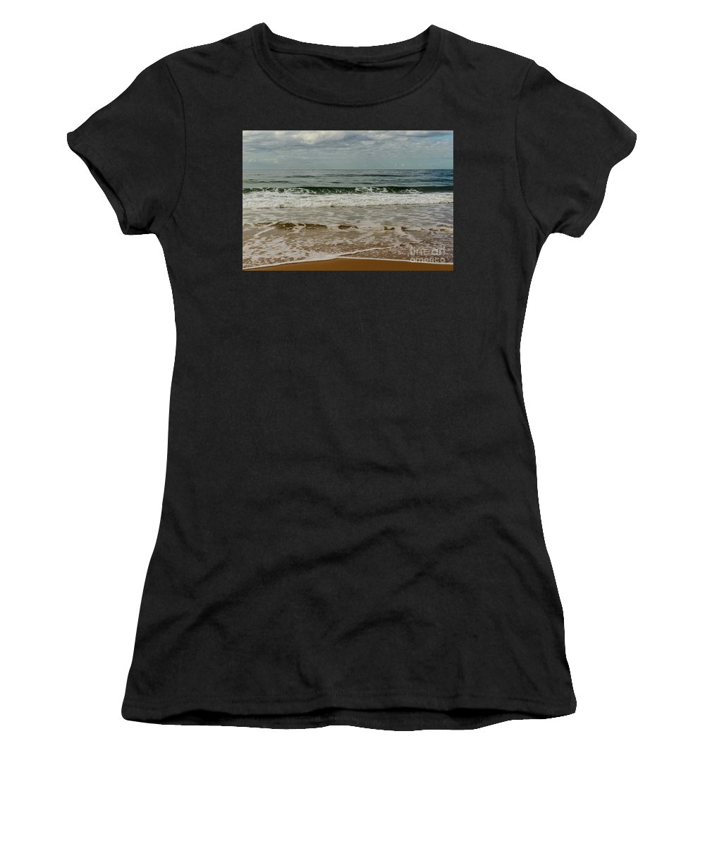 Beach Women's T-Shirt (Athletic Fit) featuring the photograph Beach Syd01 by Werner Padarin