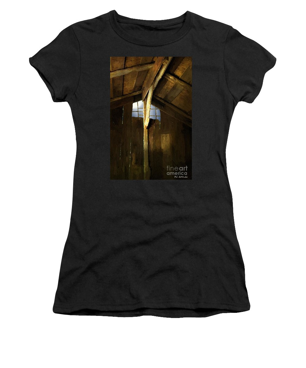 Barn Women's T-Shirt featuring the painting Beam Me Up by RC DeWinter