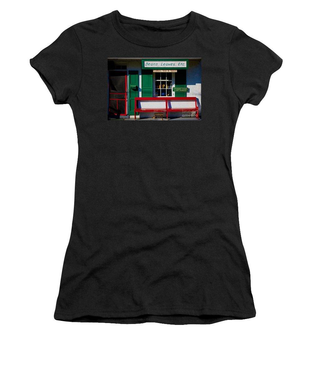 Beans Women's T-Shirt (Athletic Fit) featuring the photograph Beans, Leaves, Etc. by MingTa Li