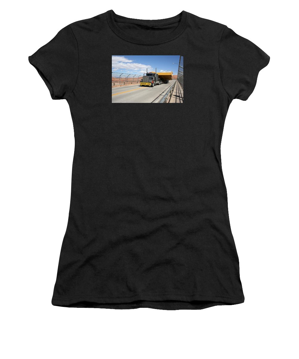 Truck Women's T-Shirt (Athletic Fit) featuring the photograph Bear Load by Christiane Schulze Art And Photography