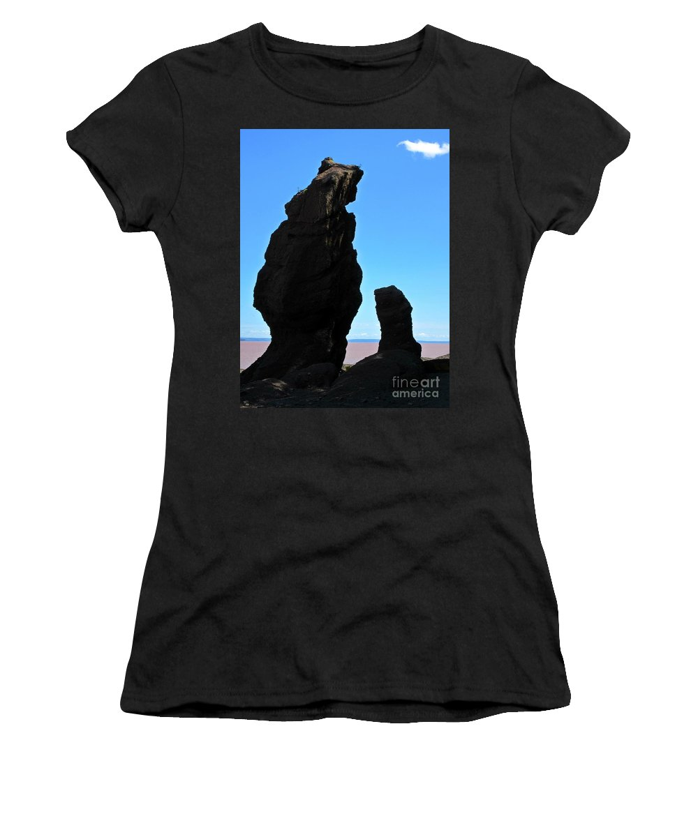 Unique Rock Formations Women's T-Shirt featuring the photograph Bear Rock by Crystal Loppie