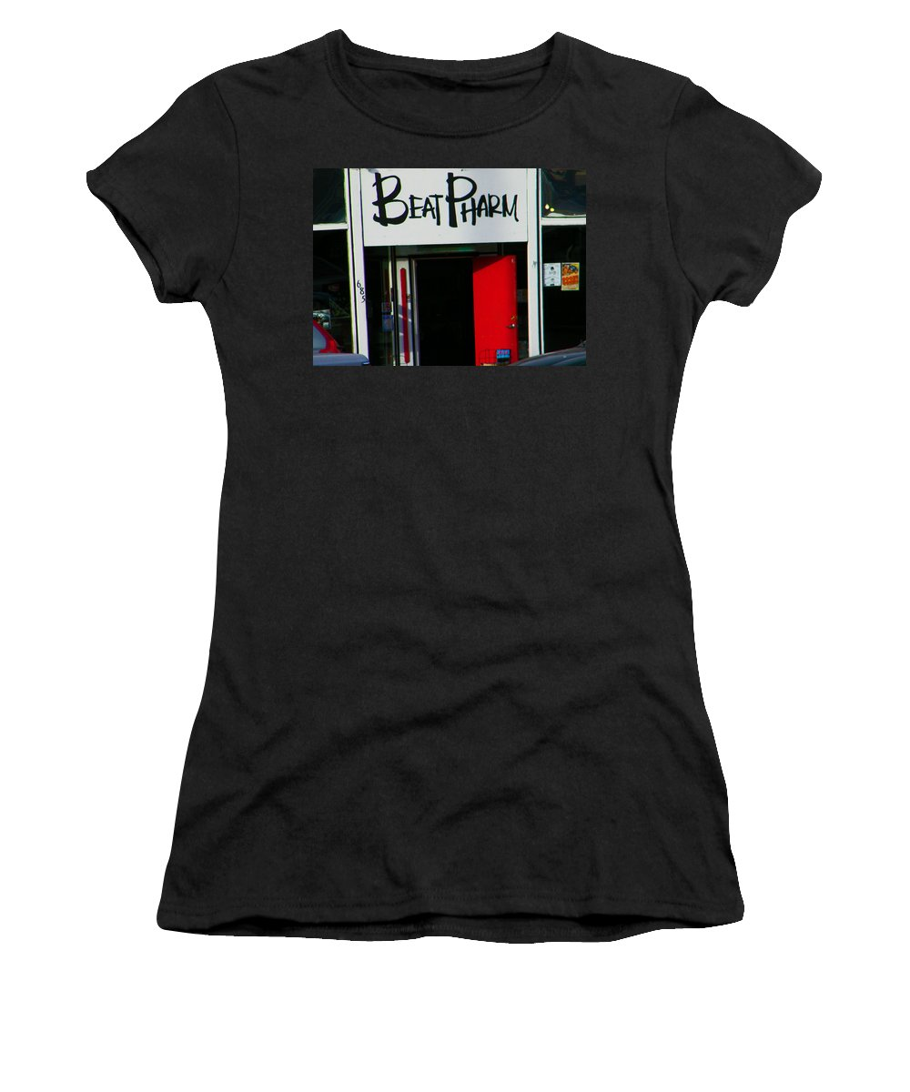Abstract Women's T-Shirt (Athletic Fit) featuring the photograph Beat Pharm by Lenore Senior