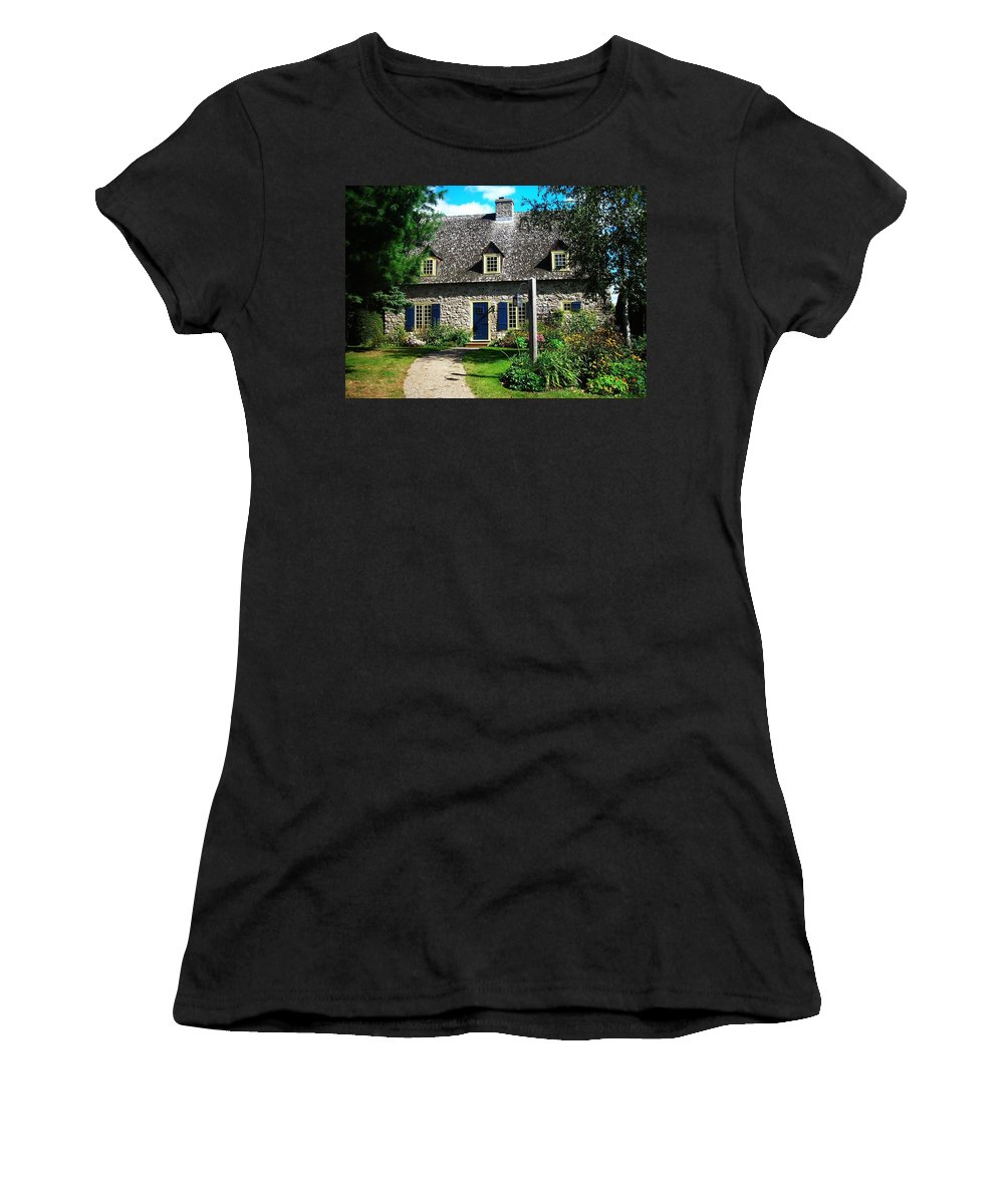 North America Women's T-Shirt (Athletic Fit) featuring the photograph Beautiful Home ... by Juergen Weiss