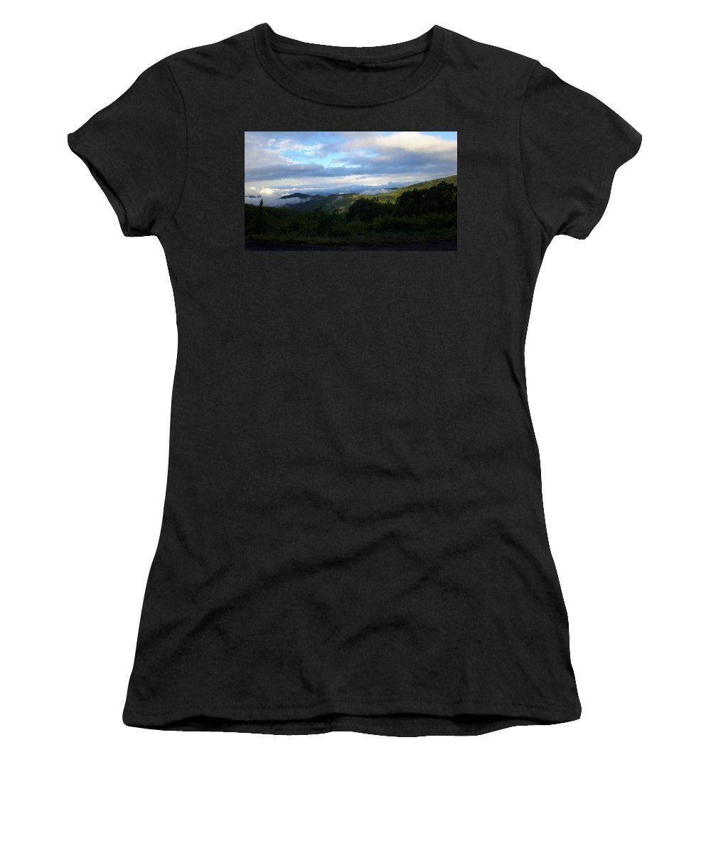 Blue Ridge Women's T-Shirt (Athletic Fit) featuring the photograph Beautiful Morning by Joe D Dry