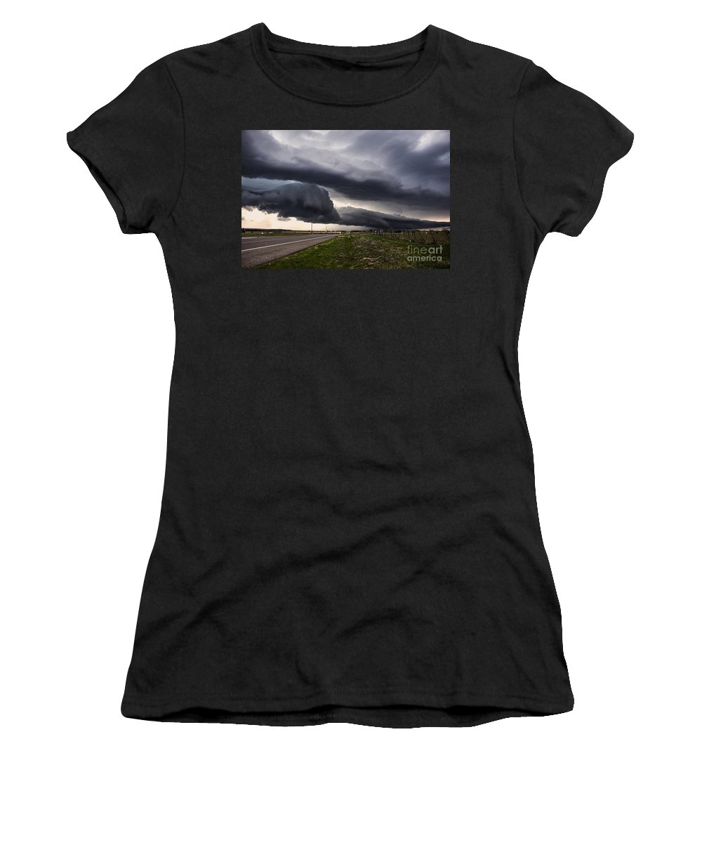 Severe Weather Women's T-Shirt featuring the photograph Beautiful Texas Storm by Francis Lavigne-Theriault