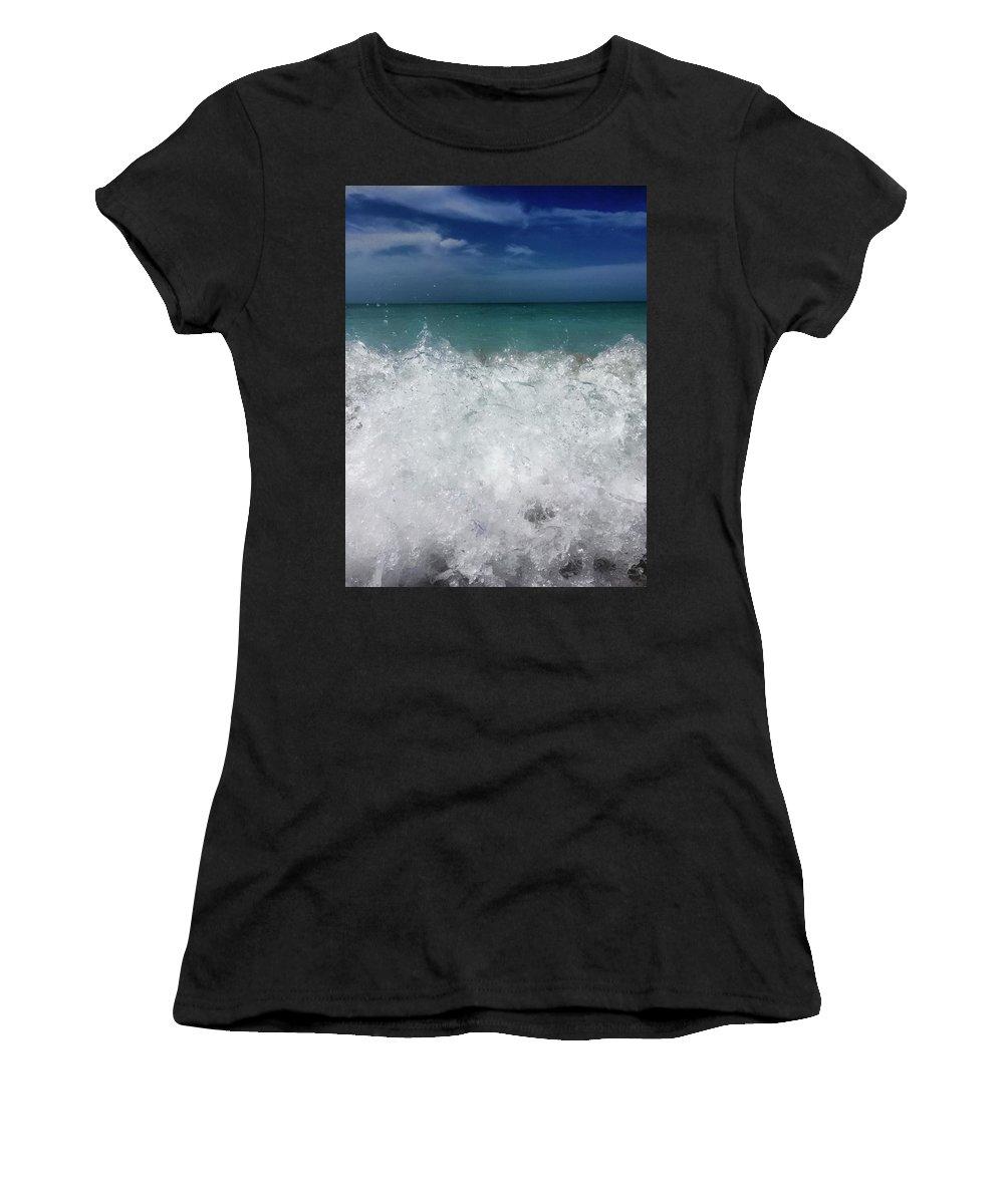 Ocean Women's T-Shirt (Athletic Fit) featuring the photograph Beckon by Terri Hart-Ellis