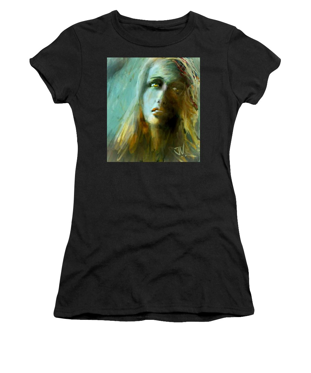 Portrait Women's T-Shirt (Athletic Fit) featuring the digital art Becky by Jim Vance