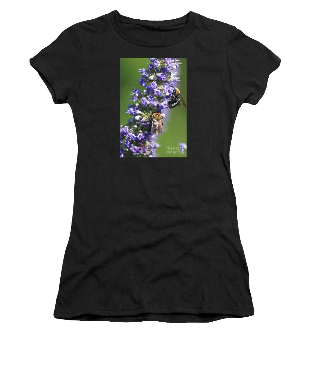 Bees Women's T-Shirt featuring the photograph Bee Cause by Bev Veals