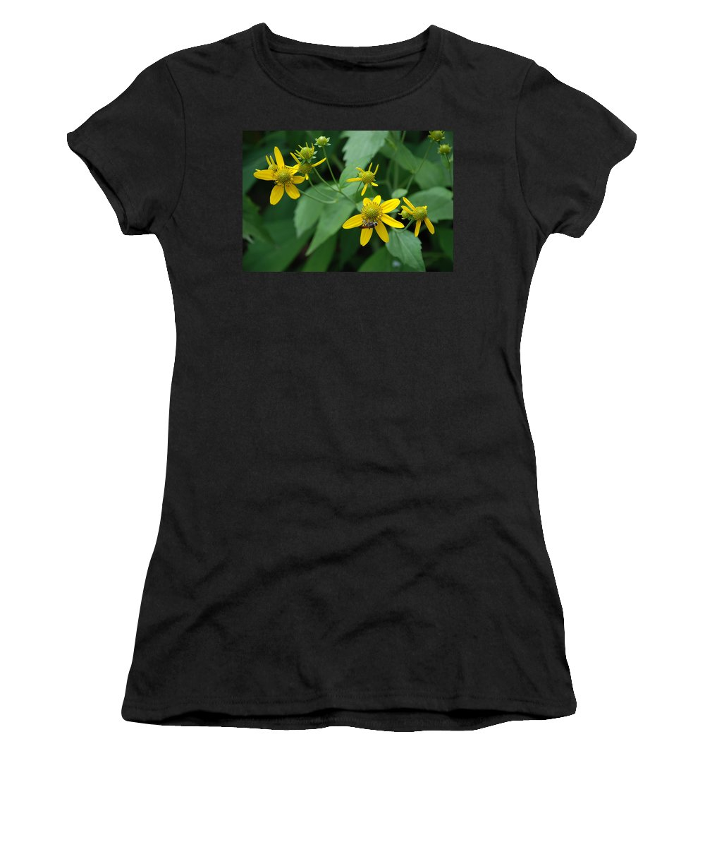 Macro Women's T-Shirt (Athletic Fit) featuring the photograph Bee On A Flower by Rob Hans