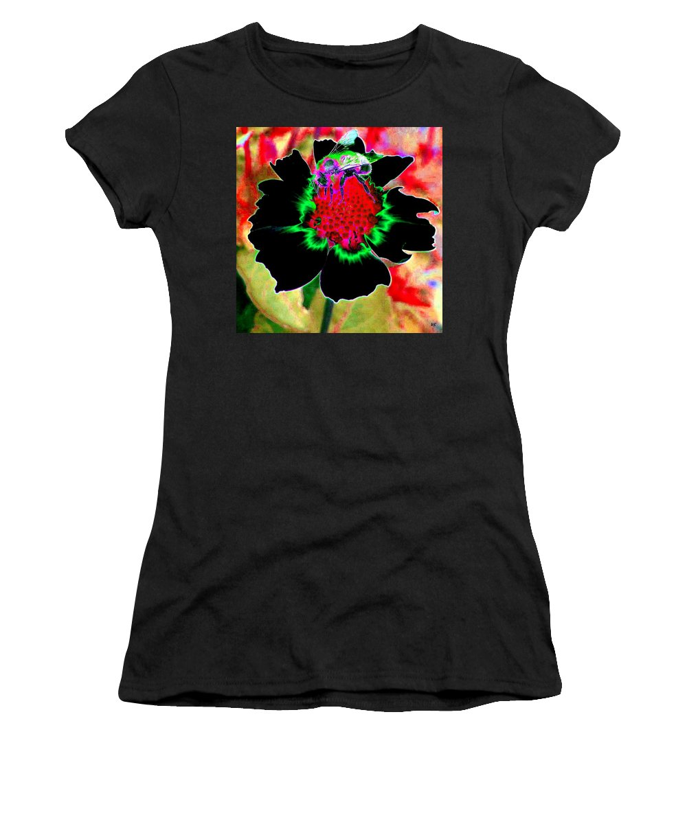 Bee Women's T-Shirt (Athletic Fit) featuring the digital art Beedazzling by Will Borden