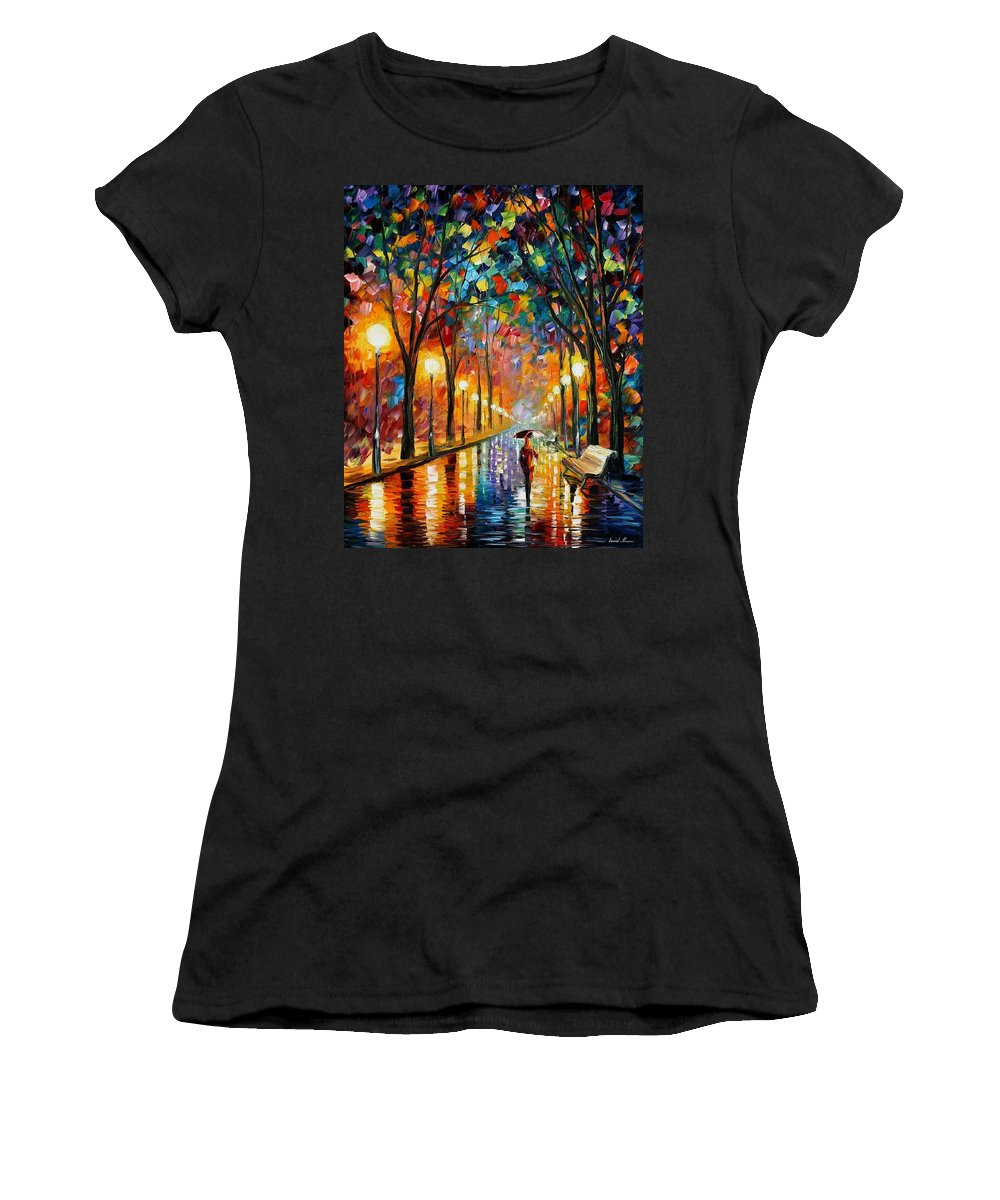 Afremov Women's T-Shirt featuring the painting Before The Celebration by Leonid Afremov