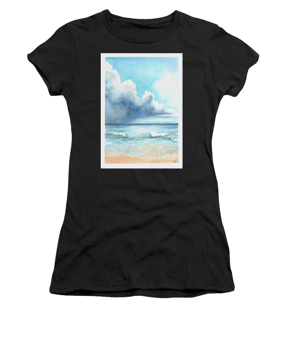 Gulf Women's T-Shirt (Athletic Fit) featuring the painting Before The Storm by Hilda Wagner