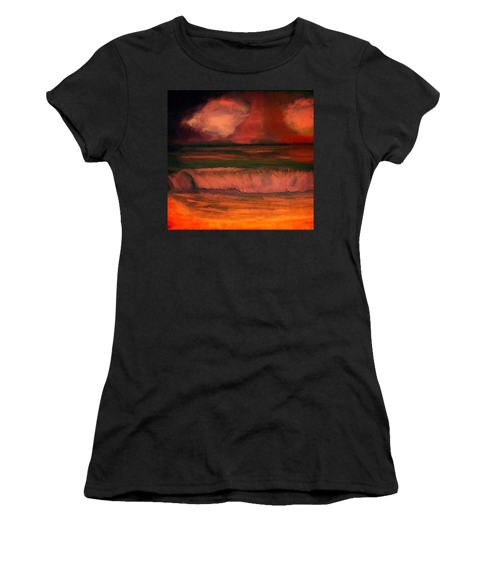 Clouds Women's T-Shirt (Athletic Fit) featuring the pastel Before The Storm by Melvin Moon