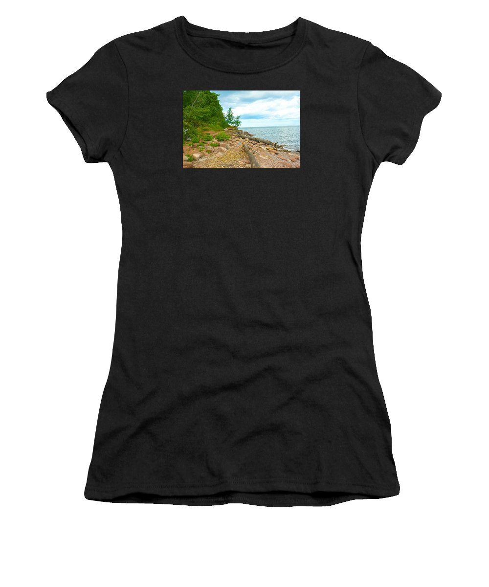 Marquette Women's T-Shirt (Athletic Fit) featuring the photograph Behind The Wall by Kendall Tabor