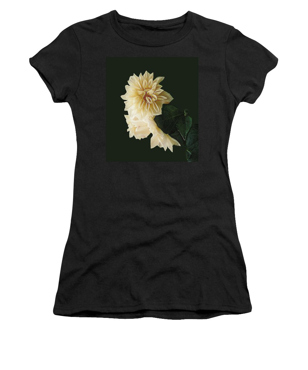 Beige Women's T-Shirt (Athletic Fit) featuring the digital art Beige Bold And Beautiful by RC DeWinter