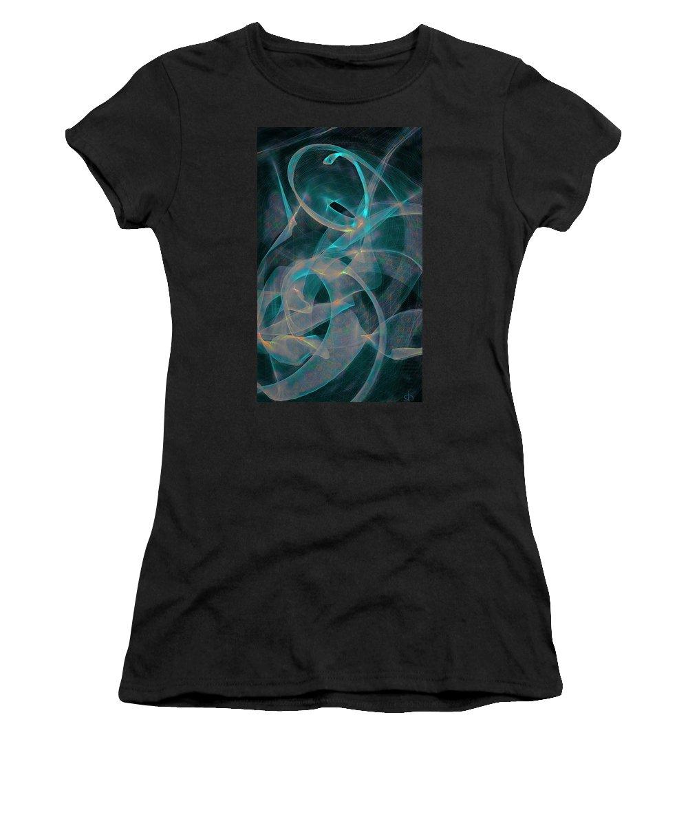 Brigitte Harper Women's T-Shirt featuring the digital art Being by Brigitte Harper