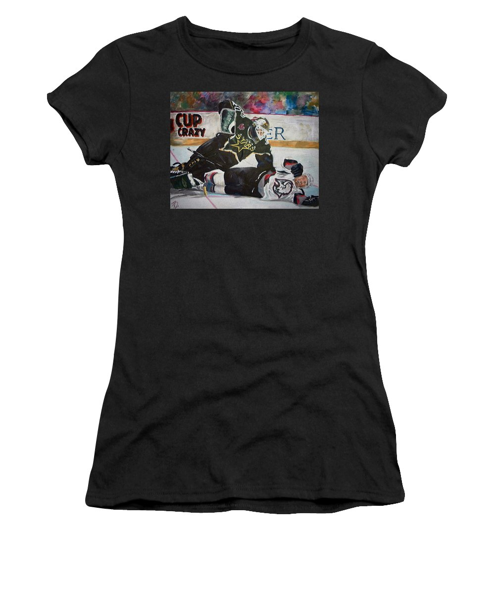 Belfour Women's T-Shirt (Athletic Fit) featuring the painting Belfour by Travis Day