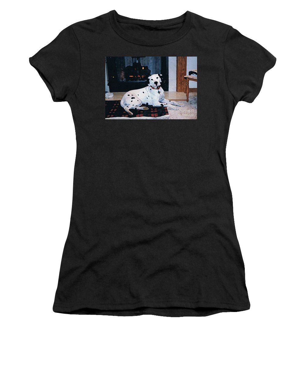 Dalmatian Women's T-Shirt (Athletic Fit) featuring the digital art Ben by Tommy Anderson
