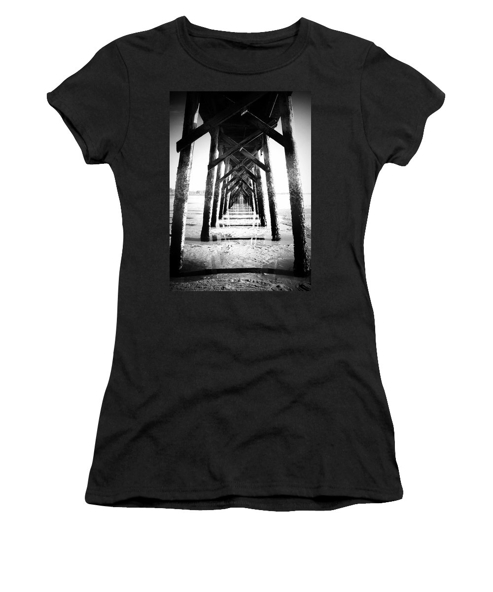 Pier Women's T-Shirt featuring the photograph Beneath The Pier by Tara Turner