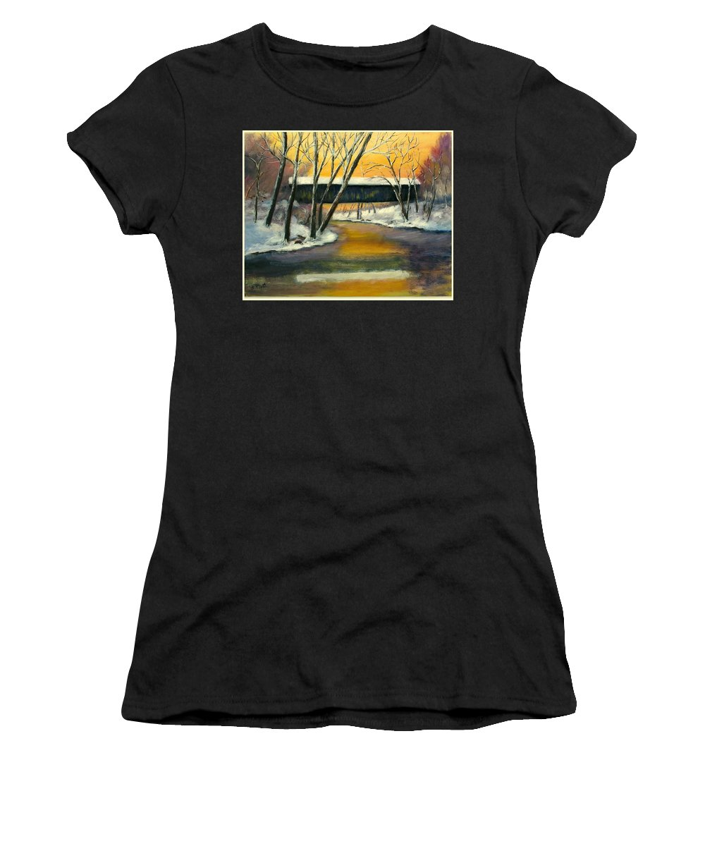 Kentucky Women's T-Shirt (Athletic Fit) featuring the painting Bennett by Gail Kirtz