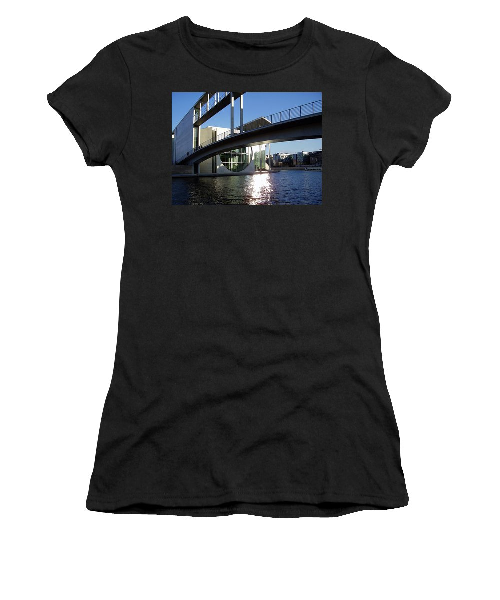 Marie-elisabeth-lueders Women's T-Shirt (Athletic Fit) featuring the photograph Berlin by Flavia Westerwelle