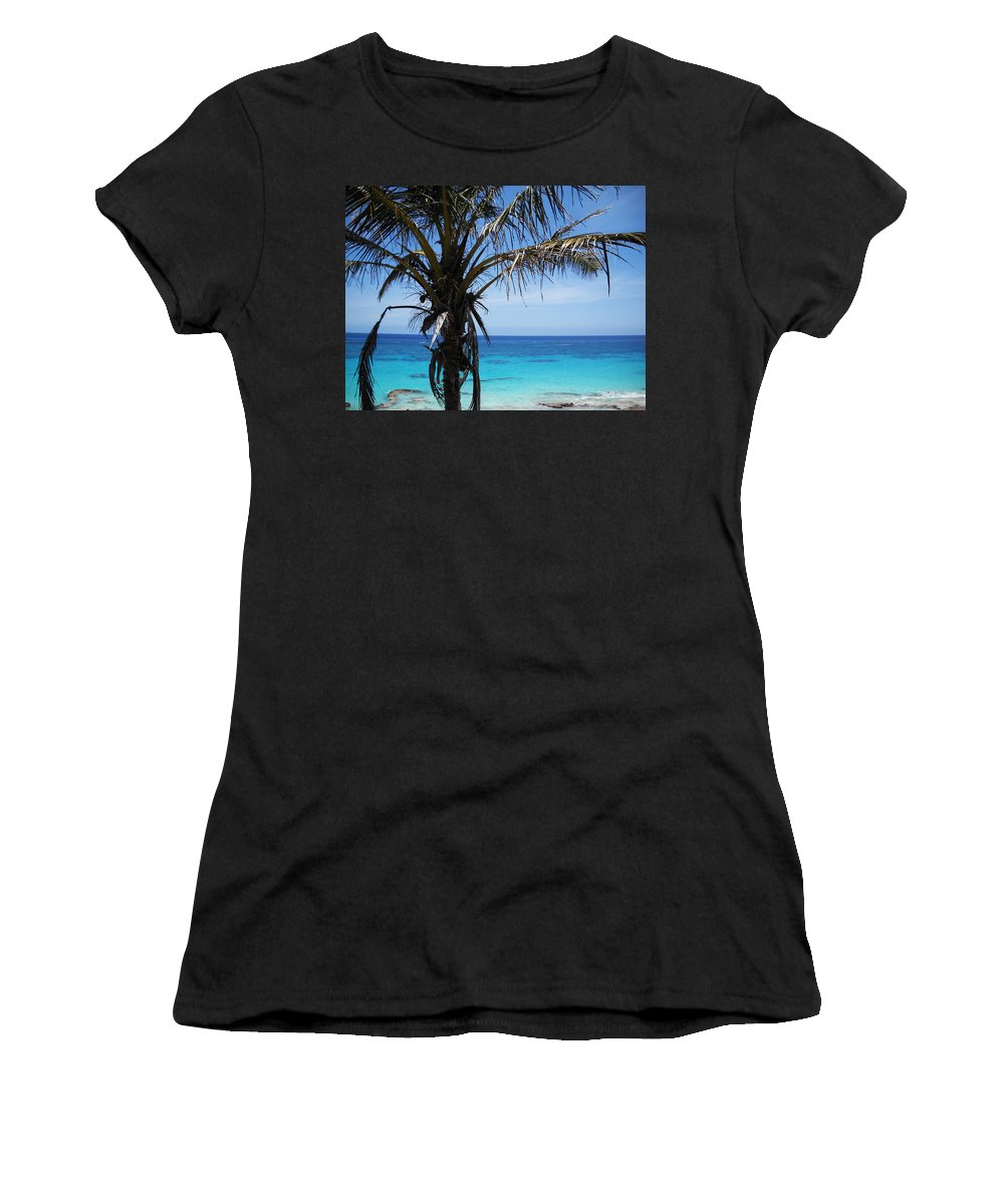 Bermuda Women's T-Shirt (Athletic Fit) featuring the photograph Bermuda Blues by Julia Raddatz