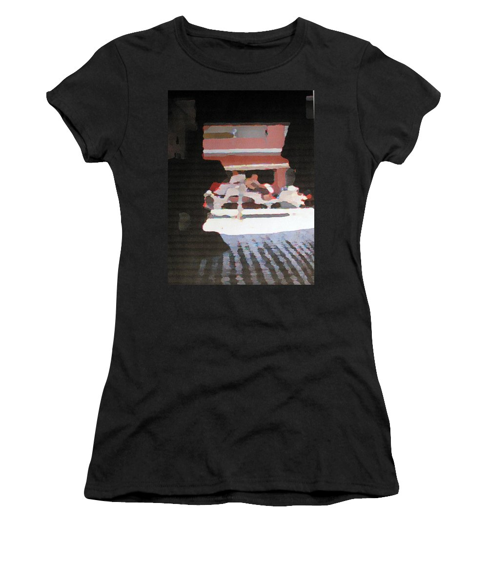 Bermuda Women's T-Shirt (Athletic Fit) featuring the photograph Bermuda Carriage Impressions by Ian MacDonald