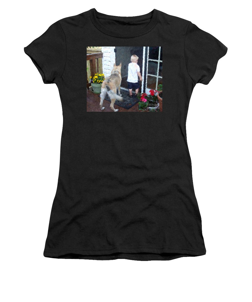 Dogs Women's T-Shirt (Athletic Fit) featuring the photograph Best Friends by Debbi Granruth