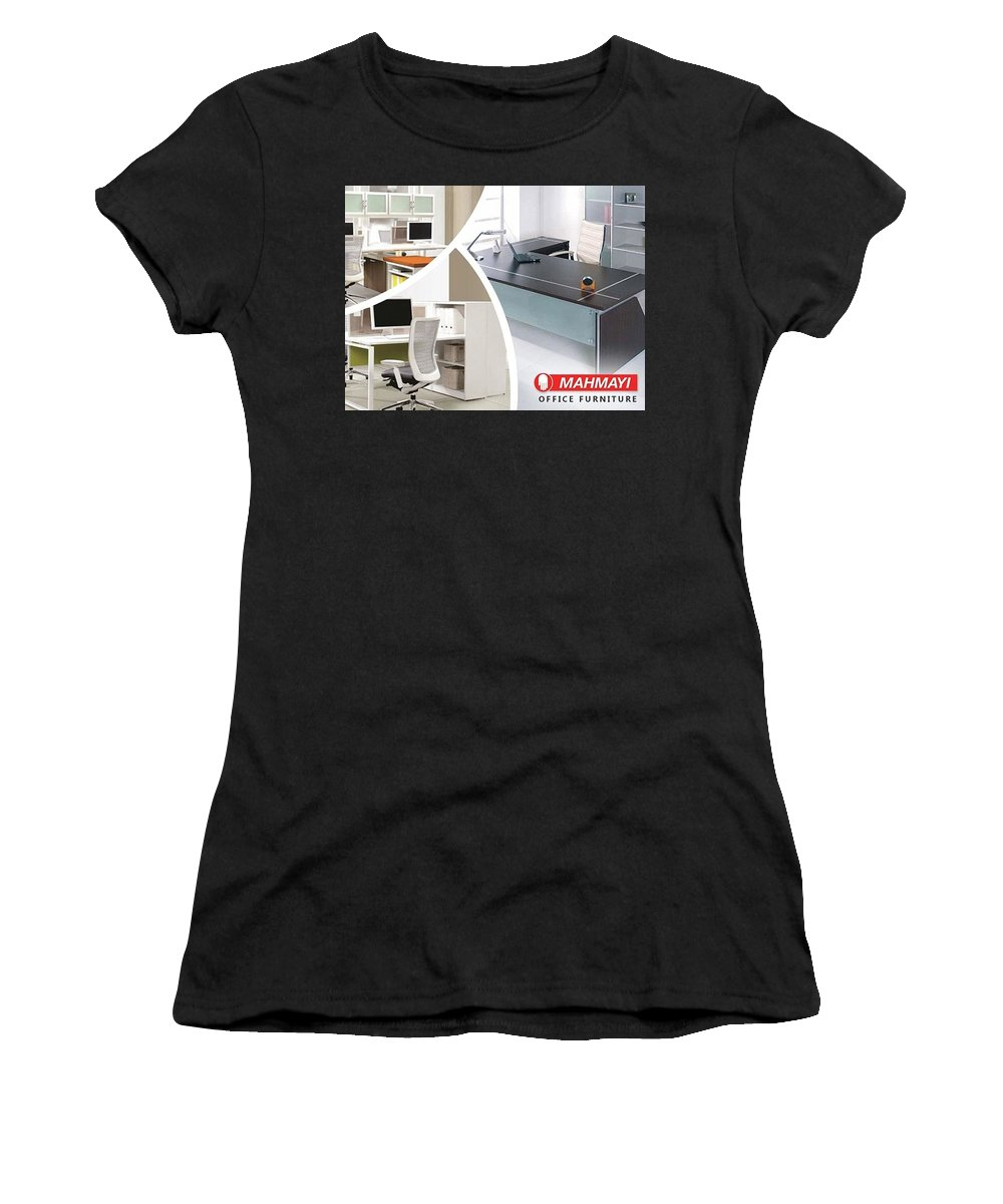 Computer Office Desk Women's T-Shirt (Athletic Fit) featuring the digital art Best Place To Buy Computer Office Desk by Mahmayi Office Furniture