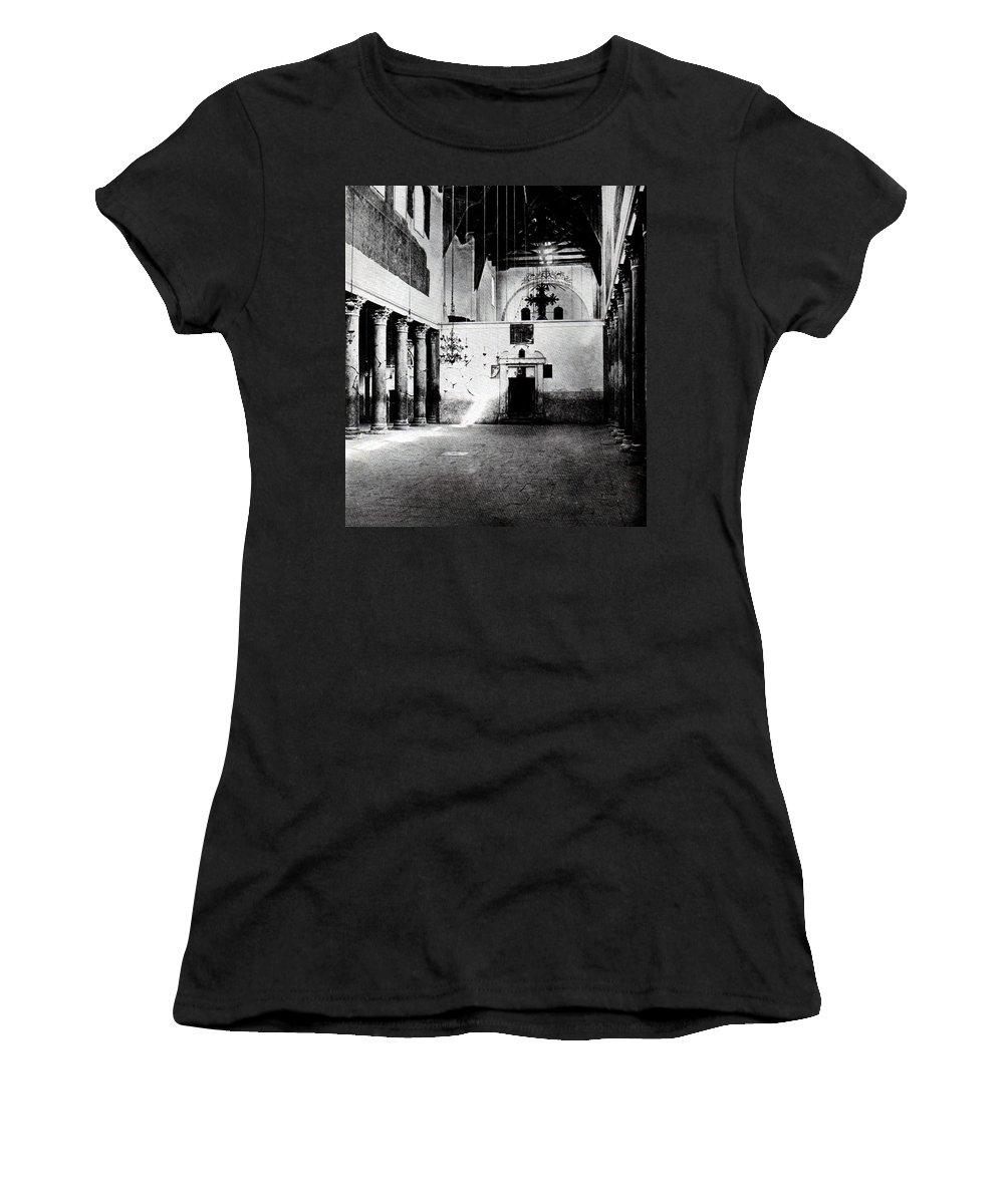 Nativity Women's T-Shirt (Athletic Fit) featuring the photograph Bethlehem - Nativity Church Year 1887 by Munir Alawi