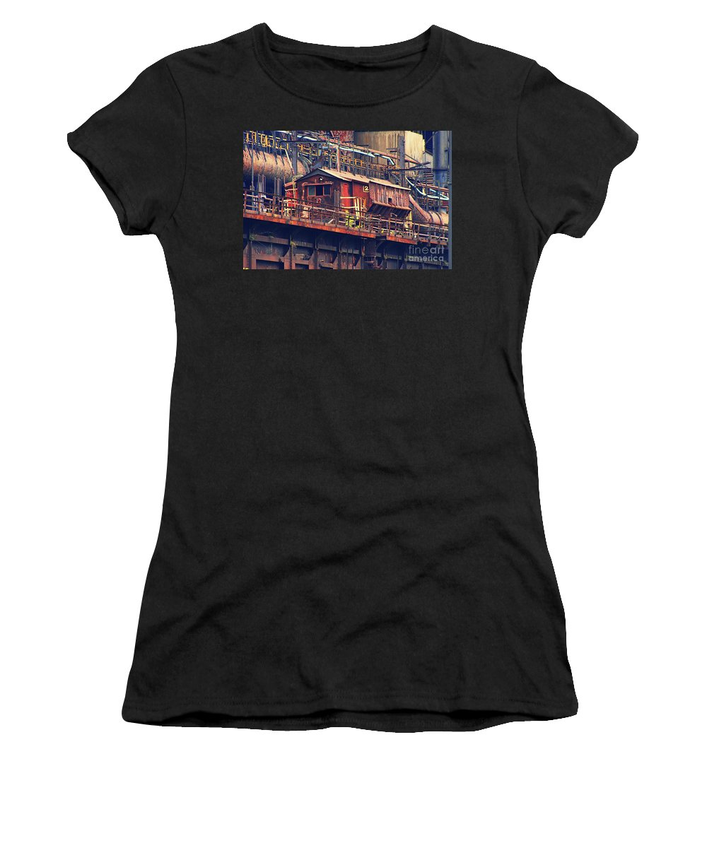 Industry Women's T-Shirt (Athletic Fit) featuring the photograph Bethlehem Steel #10 by Marcia Lee Jones