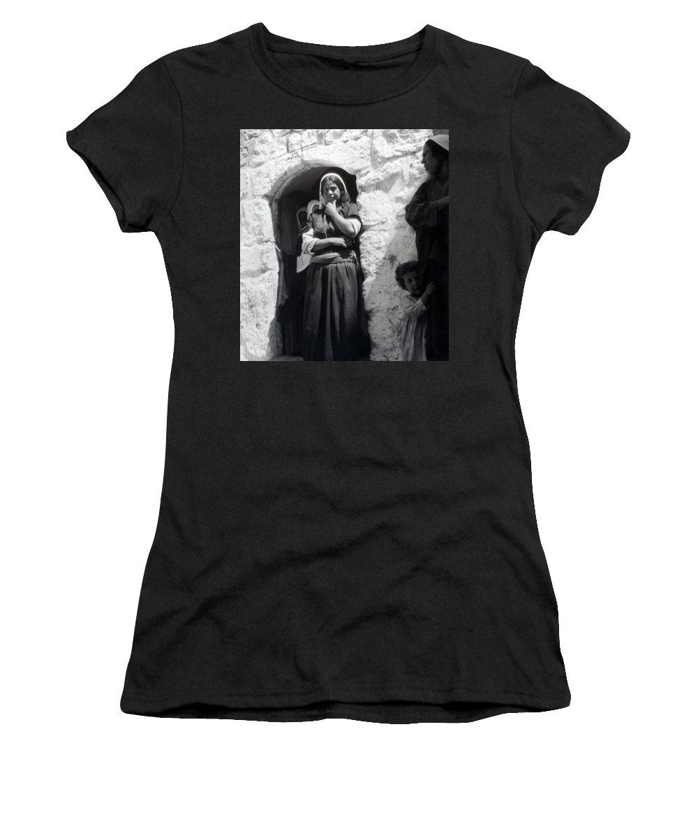 1900s Women's T-Shirt featuring the photograph Bethlehemites Women 1900s by Munir Alawi