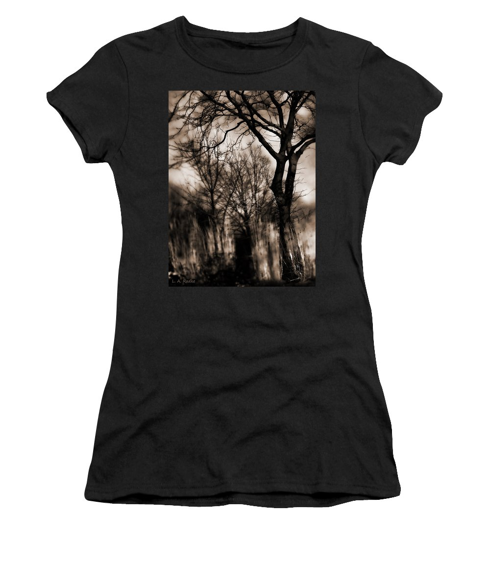 Tree Women's T-Shirt (Athletic Fit) featuring the photograph Beyond Twilight by Lauren Radke