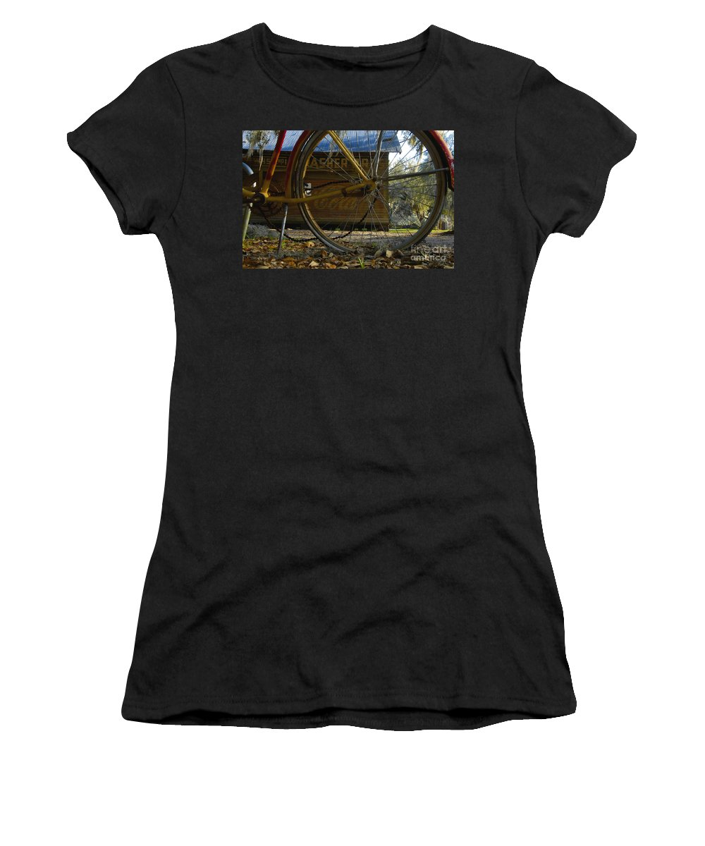 Bicycle Women's T-Shirt (Athletic Fit) featuring the photograph Bicycle At Micanopy by David Lee Thompson