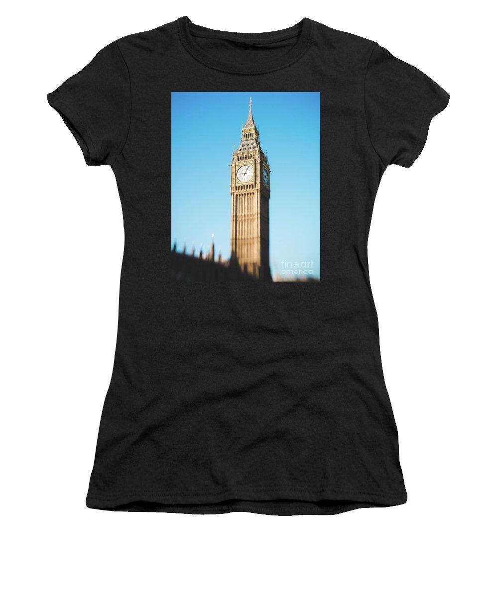 Big Ben Women's T-Shirt (Athletic Fit) featuring the photograph Big Ben by Sonja Quintero