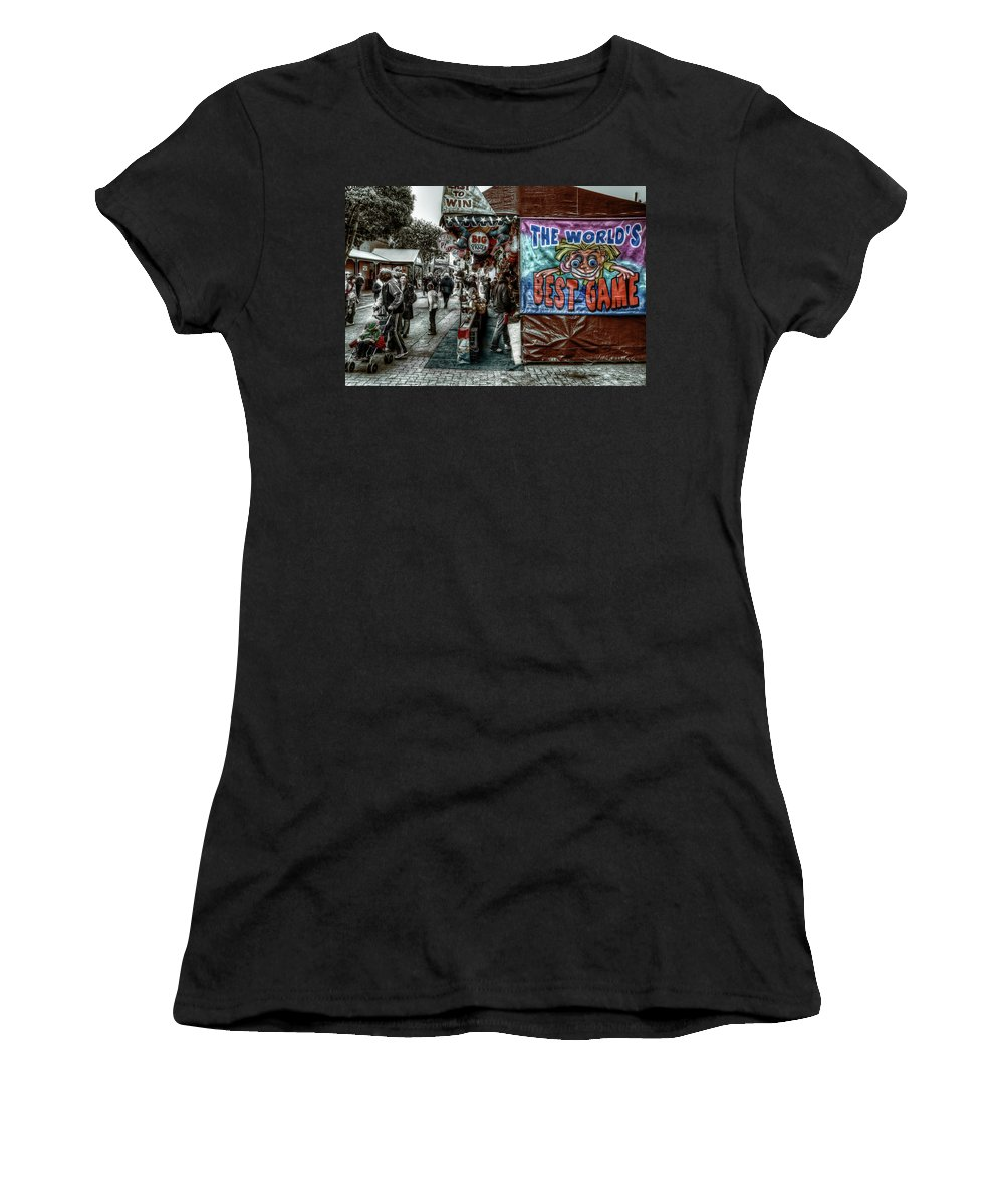 People Women's T-Shirt featuring the photograph Big Prizes by Wayne Sherriff