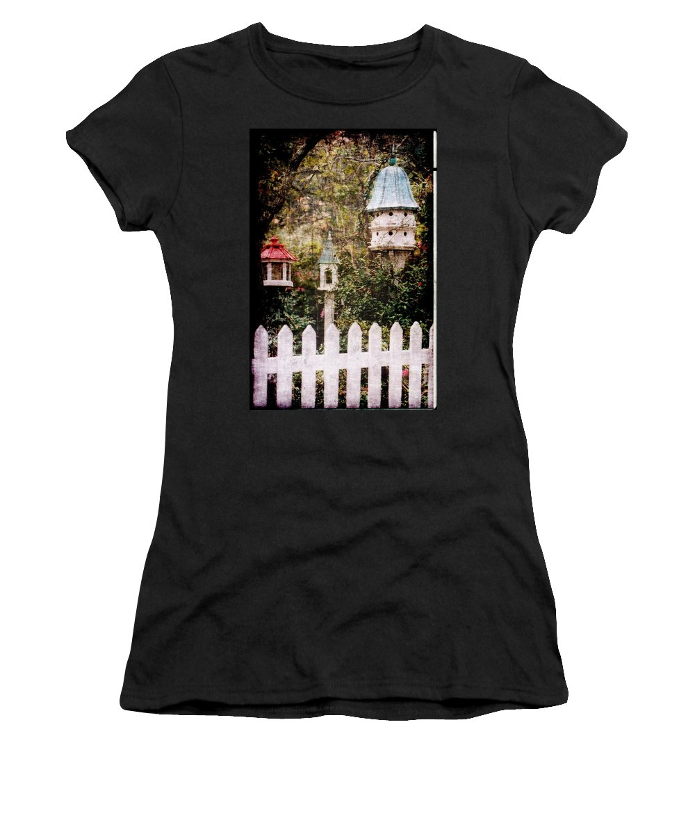 Birds Women's T-Shirt (Athletic Fit) featuring the photograph Bird Condos by Donna Bentley