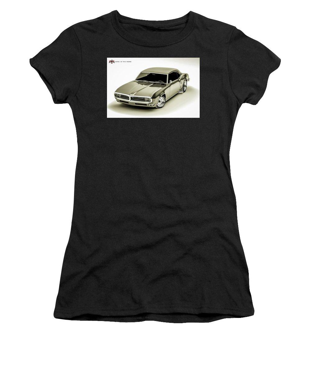 68 Firebird Women's T-Shirt featuring the digital art Bird Is The Word by Mark Maloney